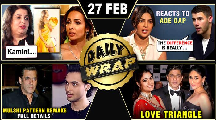 SRK, Kajol, Kareena TOGETHER, Salman Khan Aayush Sharma Movie, Nick Jonas On Age Gap | Top 10 News