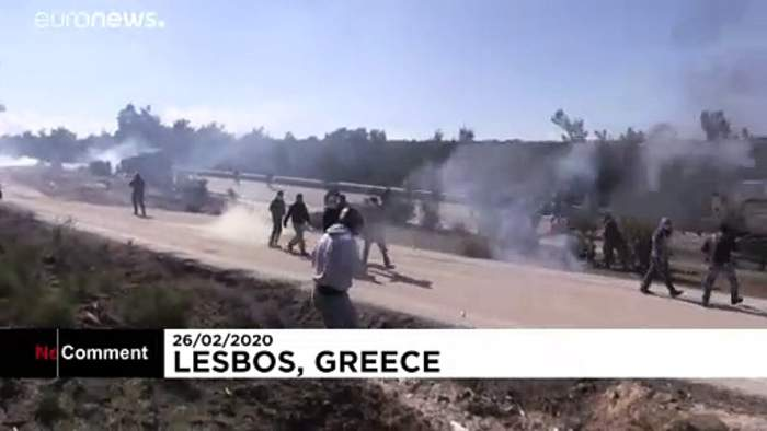 Demonstrators clash with police in protests over Greece migrant camps