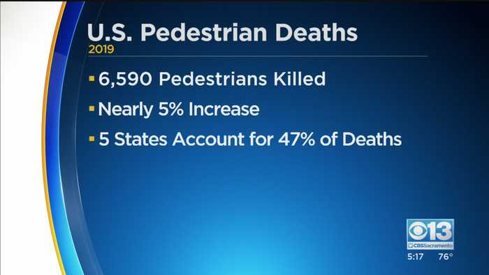 Number Of Pedestrian Deaths At Highest Number In 30 Years