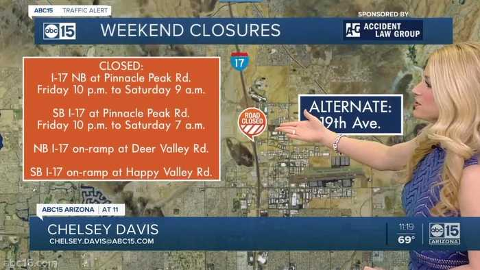 Weekend construction: 5 Valley freeways to be closed or restricted