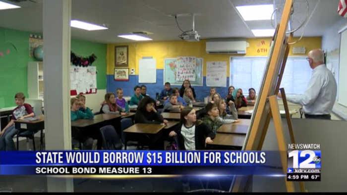 California's Proposition 13 would borrow $15 billion for public schools