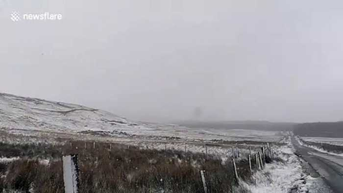 Blizzard conditions in western Ireland as Storm Jorge hits