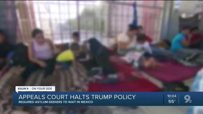 Appeals court temporarily halts Trump policy