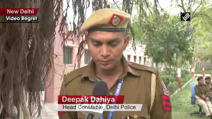Delhi violence Head Constable explains how he controlled Shahrukh, man who pinted gun at him