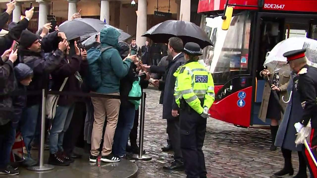 Prince Charles and Camilla visit London Transport Museum