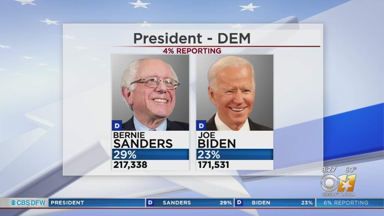 Bernie Sanders Pulls Ahead Of Joe Biden In Texas