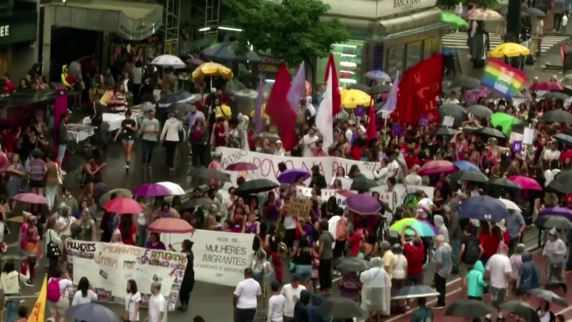 Thousands march for Women's Day in Latin America