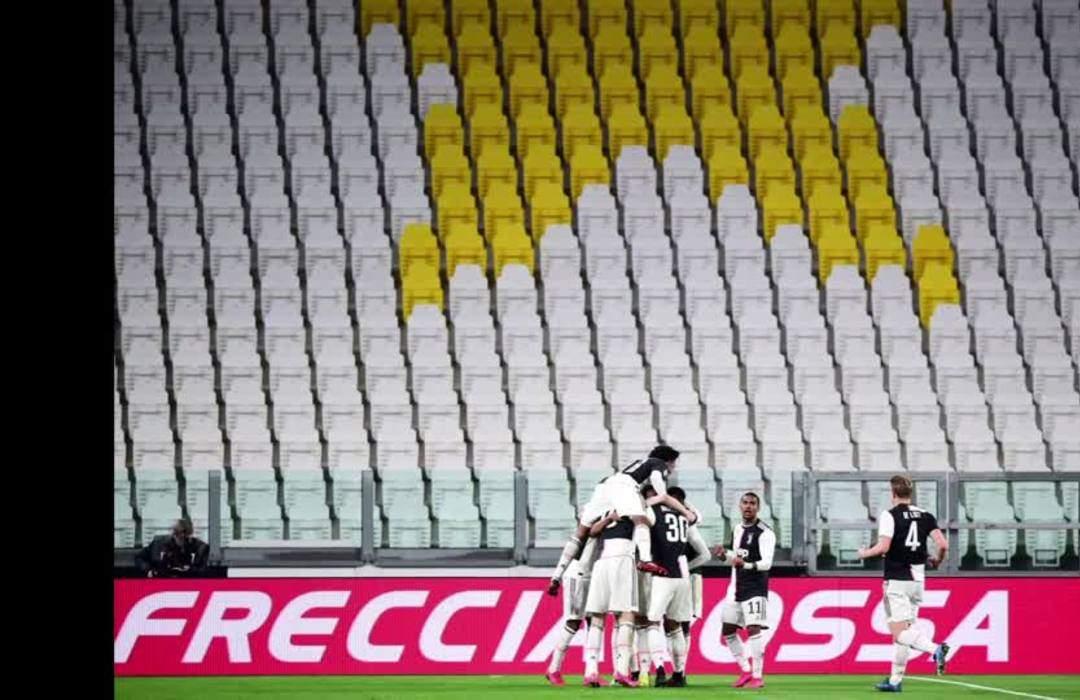 Juventus down Inter Milan 2-0 in Serie A match played in empty stadium