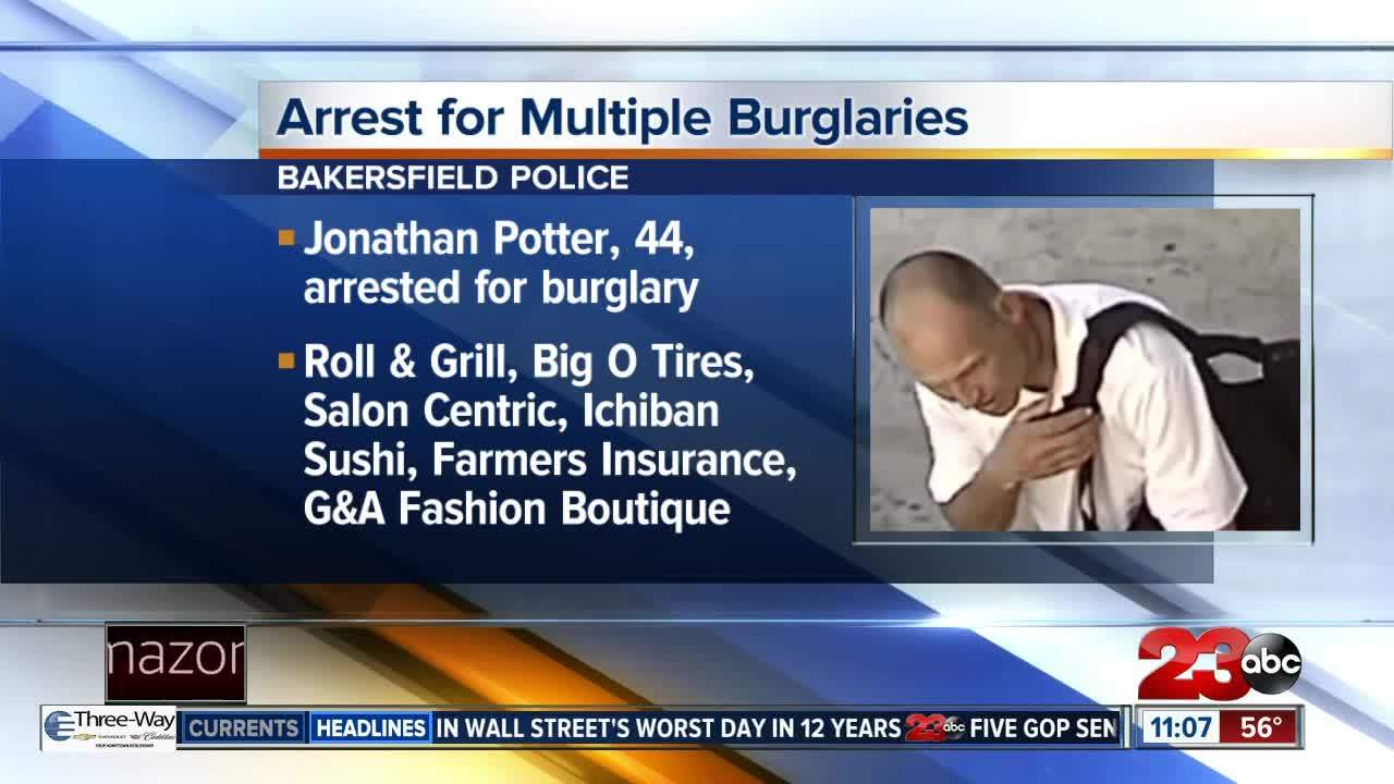 Man arrested for six different burglaries