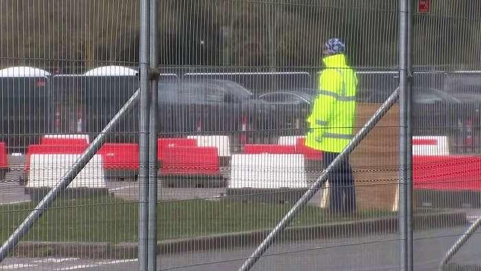 Coronavirus testing takes place in Chessington car park