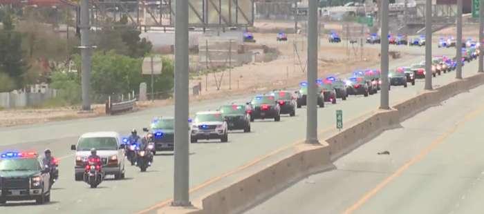Police escort fallen trooper's body home