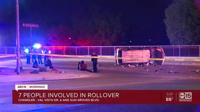 Three juveniles hurt in Chandler rollover crash