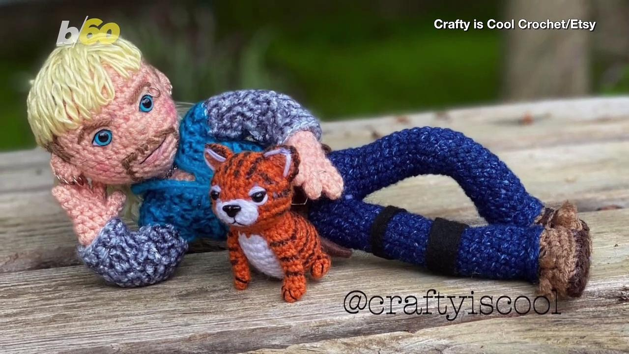 Here's How You Can Make  Crochet 'Tiger King' Dolls