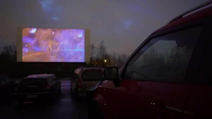 Drive-in cinema in Germany open during Covid-19 crisis