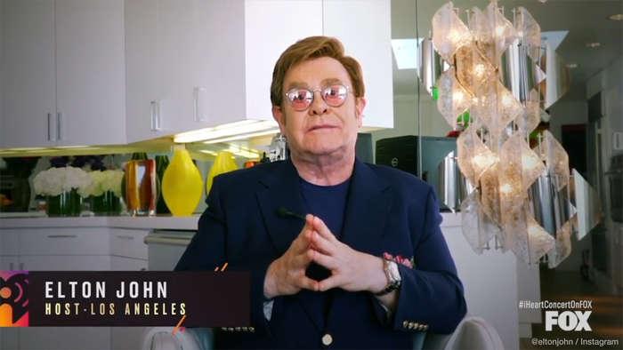 Elton John's online special raises $8 million for charity