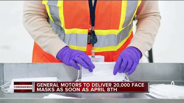 GM to deliver 20,000 face masks as soon as April 8