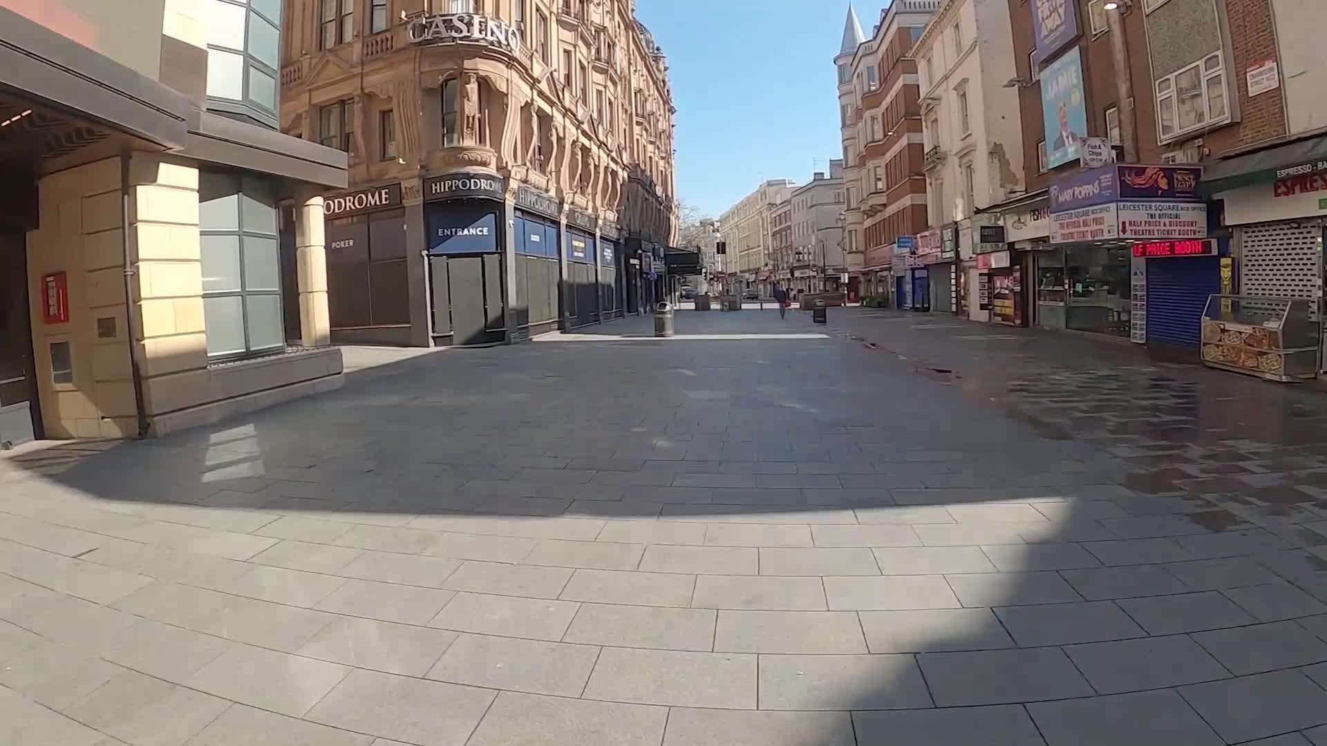 Journey through London's empty streets during coronavirus lockdown