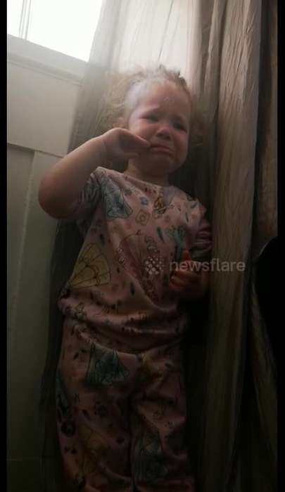 Three-year-old cries 'get me out of here' during coronavirus lockdown