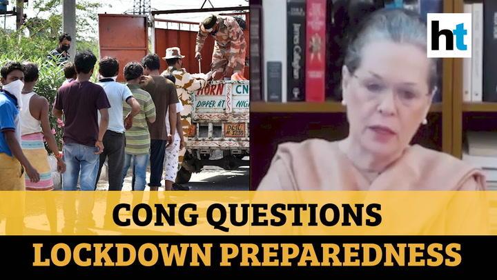 'Lockdown necessary but...': Sonia Gandhi slams Centre over preparedness