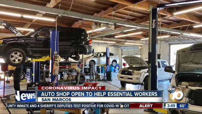 Auto shop open to help essential workers