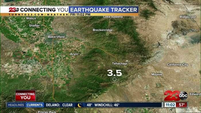 Tehachapi 3.5 magnitude earthquake