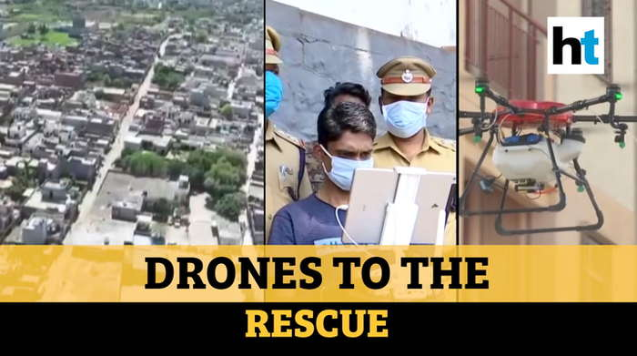 How India is using drones for sanitization & making lockdown a success