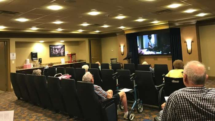 Kids hold digital performance for seniors