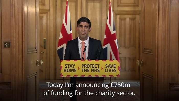 Rishi Sunak announces financial plan for UK charities