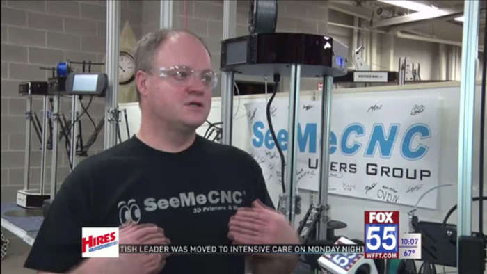 3D printer helping make parts for PPE masks