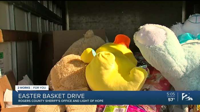 Easter basket drive in Rogers County