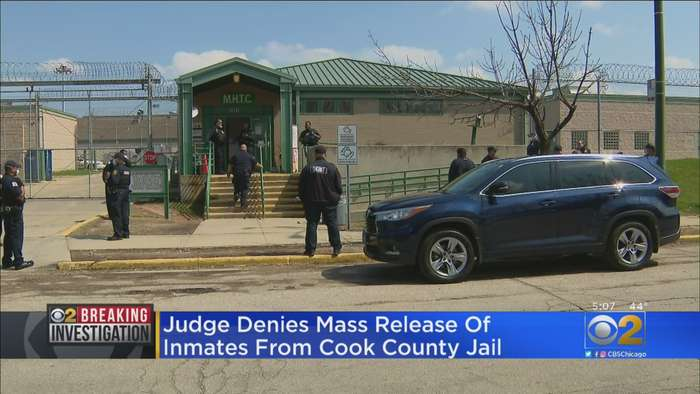 Judge Denies Mass Release Of Inmates From Cook County Jail