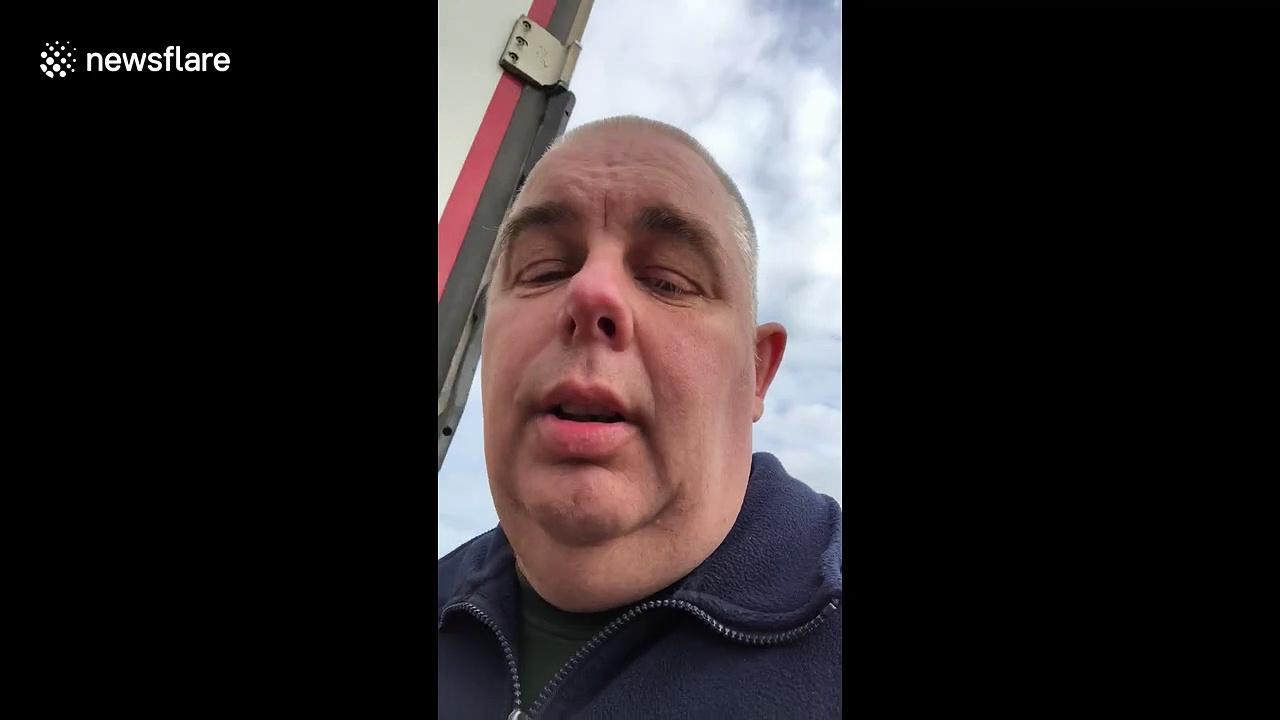 UK lorry driver gives harrowing insight into the logistics behind coronavirus