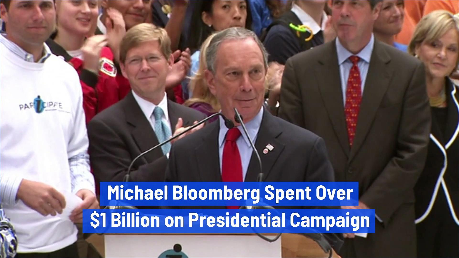 Michael Bloomberg Spent Over $1 Billion on Presidential Campaign