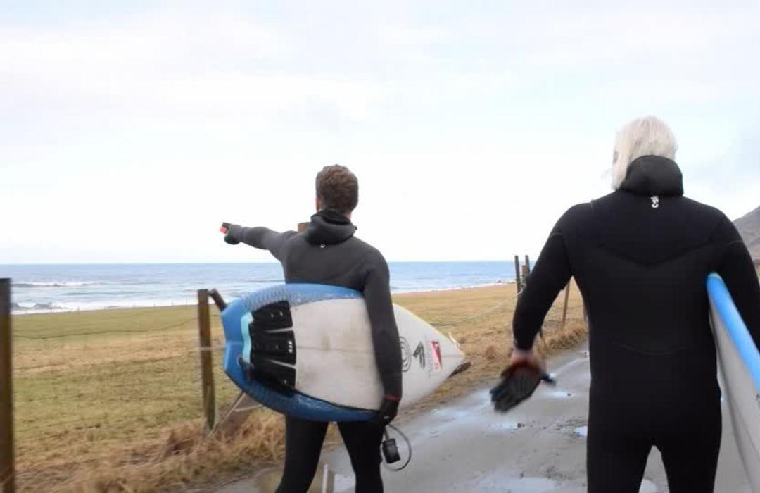 Arctic surfers ride out Norway's coronavirus blues