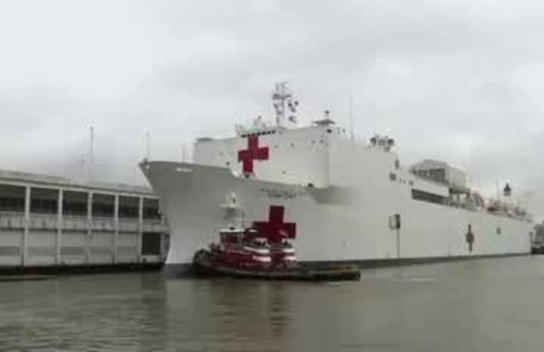 USNS Comfort departs NYC after one month