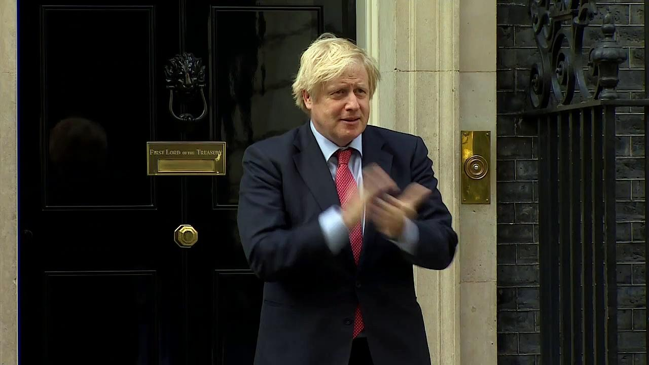 Boris Johnson and Sir Keir Starmer join nationwide Clap for Carers