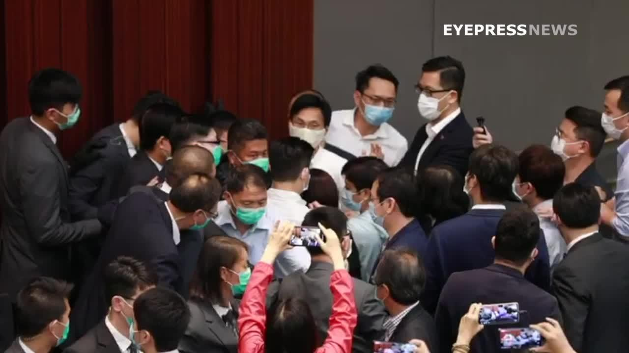 Hong Kong lawmakers fight for chairman seat