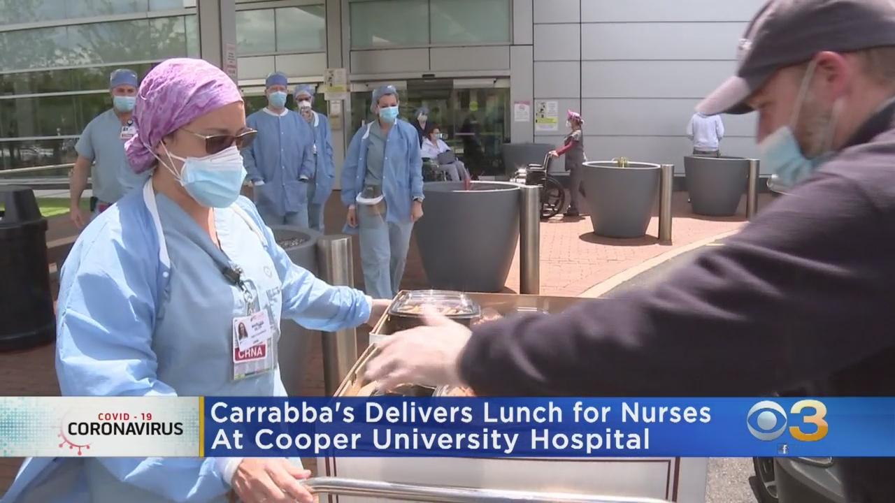 Carrabba's Delivers Lunch To Cooper University Hospital Workers