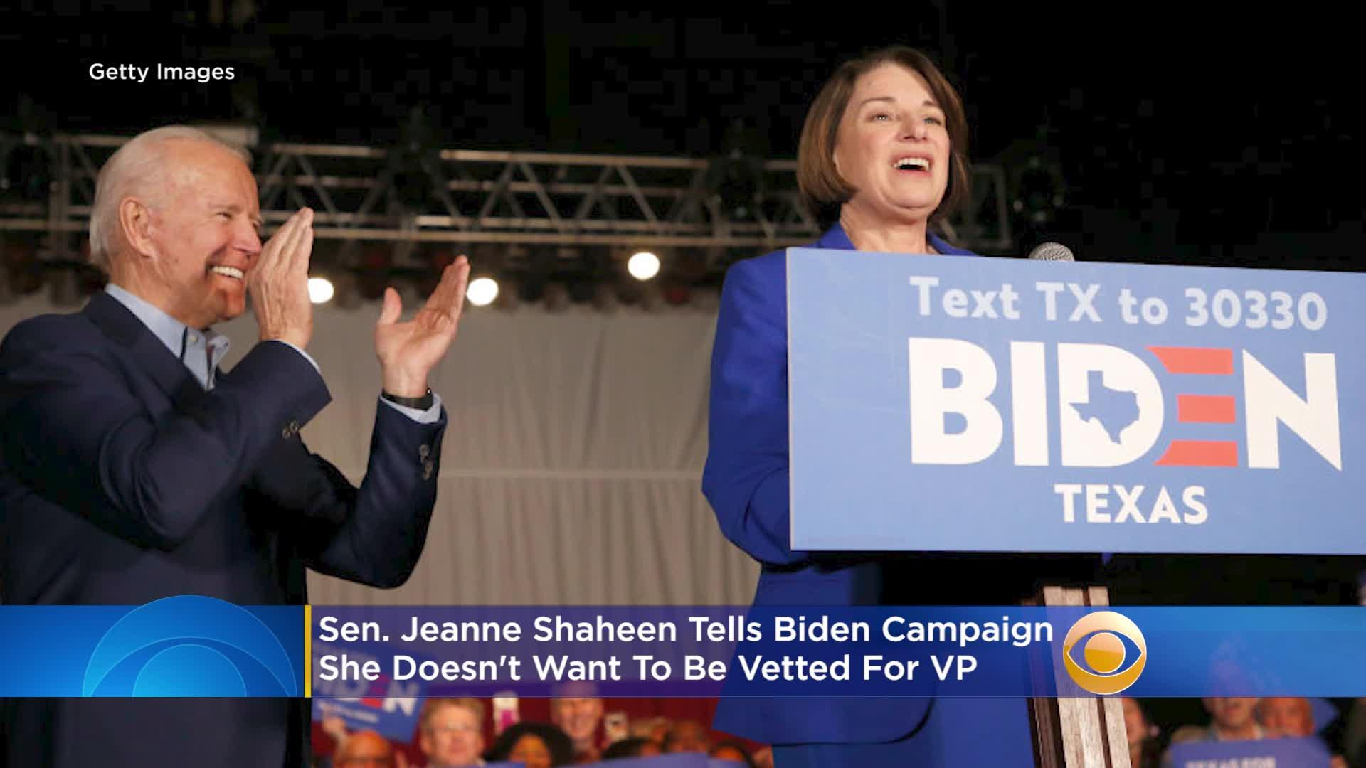 NH Sen. Jeanne Shaheen Doesn't Want To Be Considered For Biden's VP