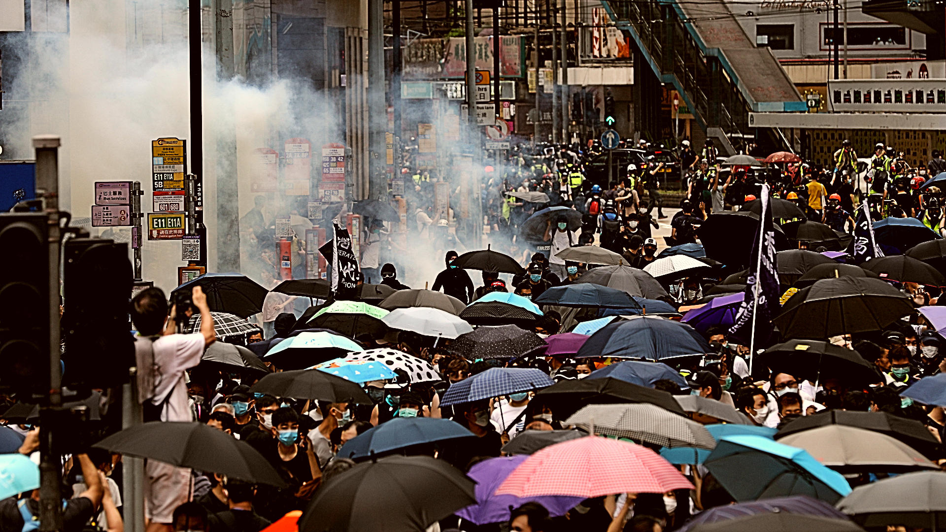 HK police fire tear gas at rally against proposed security law