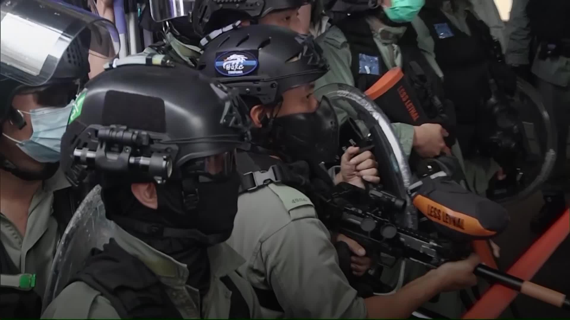 Hong Kong police out in force to disperse protesters