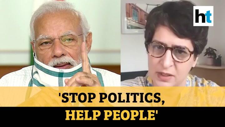 Covid: Priyanka Gandhi urges BJP to stop politics, cites Maharashtra & UP