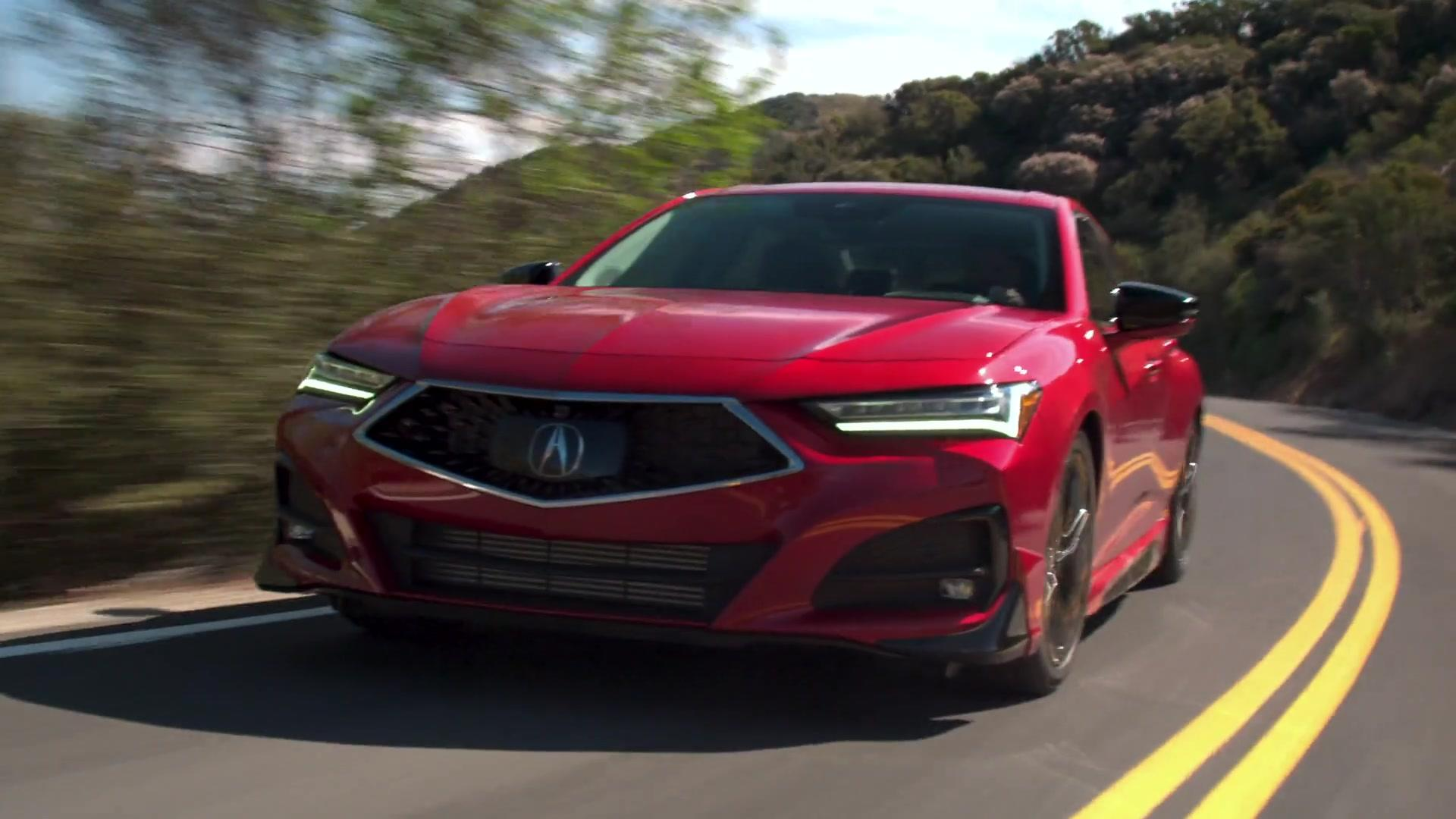 the all-new 2021 acura tlx driving video - one news page video