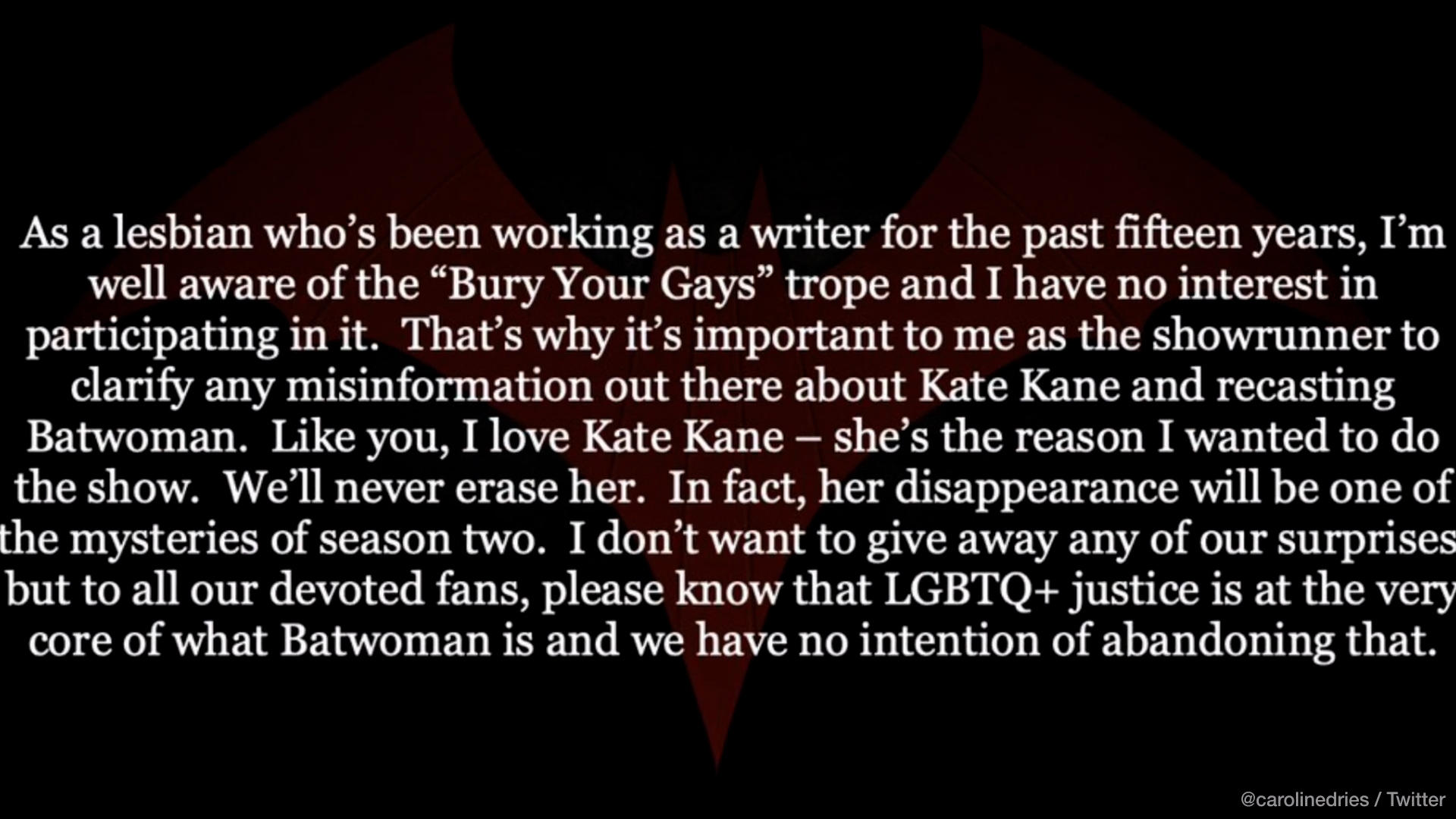 Batwoman boss assures series will still have gay themes despite Ruby Rose's exit