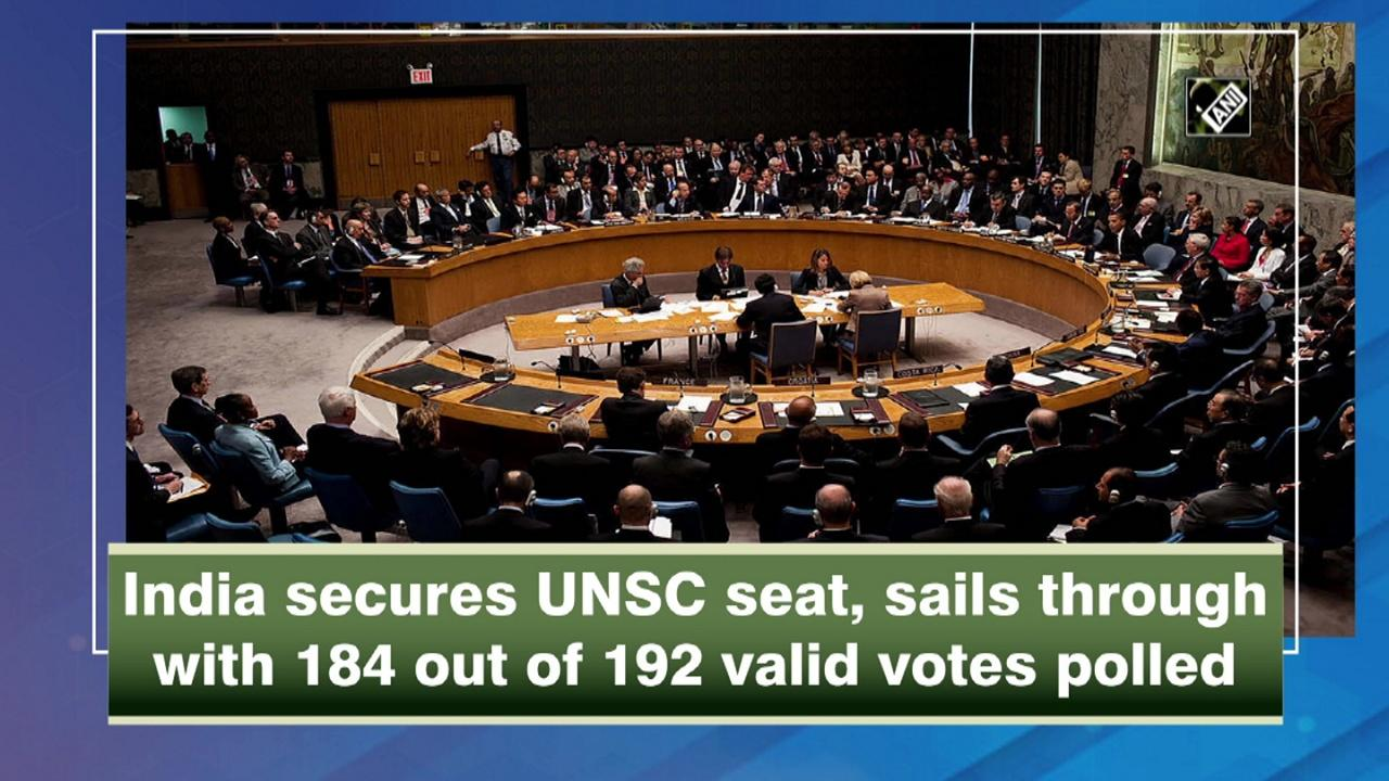 India secures UNSC seat, sails through with 184 out of 192 valid votes polled