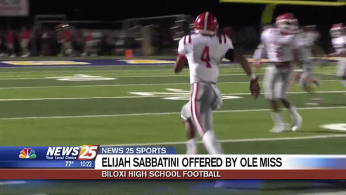 Biloxi High S Elijah Sabbatini Offered By Ole One News Page Video