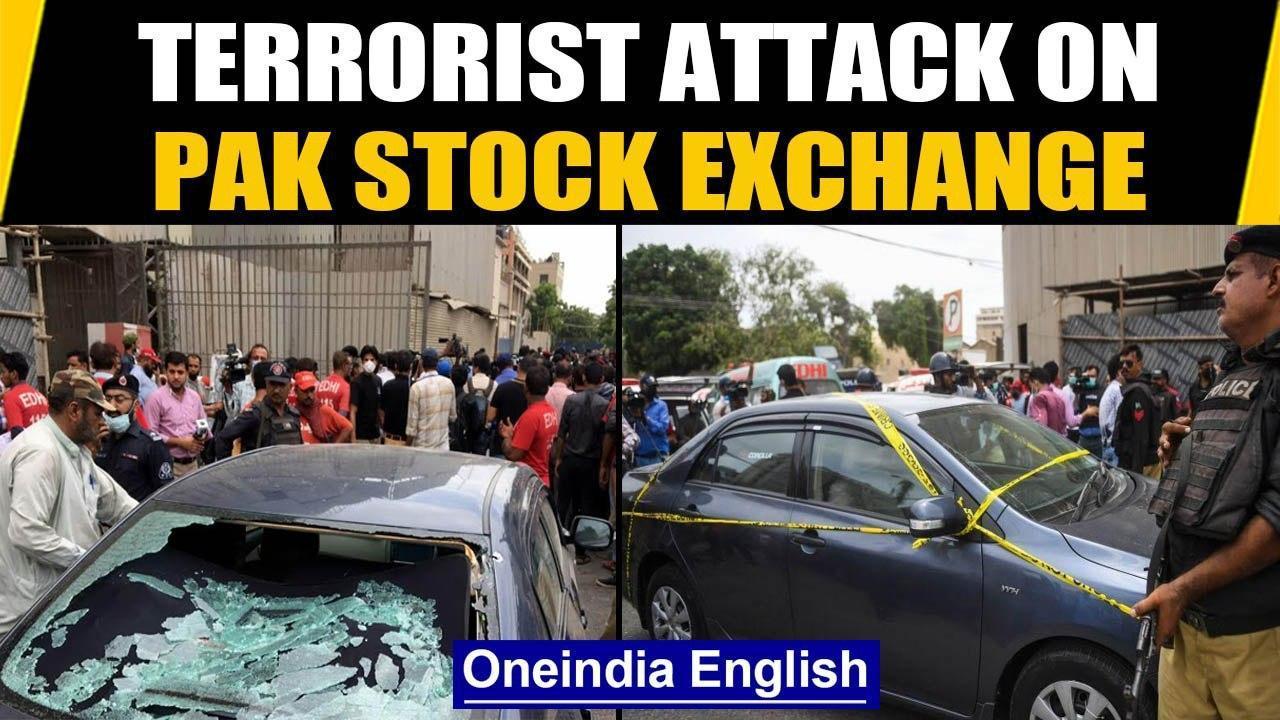 Pakistan: Terrorist attack at Pakistan Stock Exchange building, all gunmen dead | Oneindia