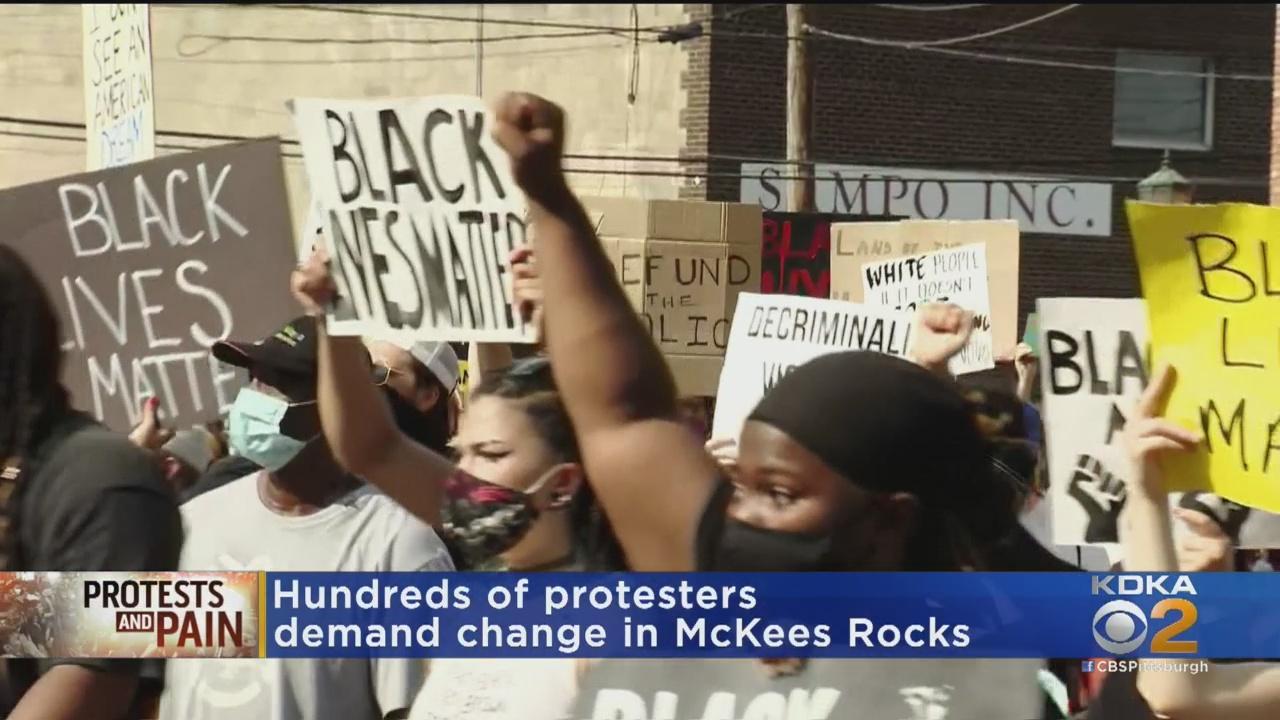 Hundreds Take Part In McKees Rocks Black Lives Matter Protest