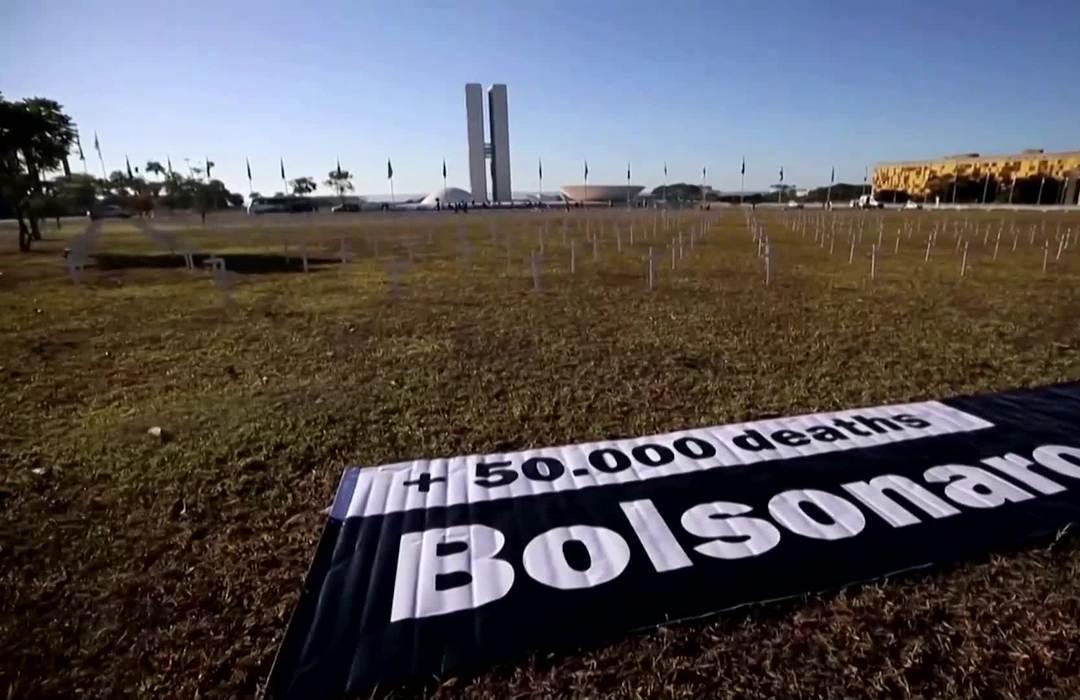 Virus-hit Brazil split on Bolsonaro