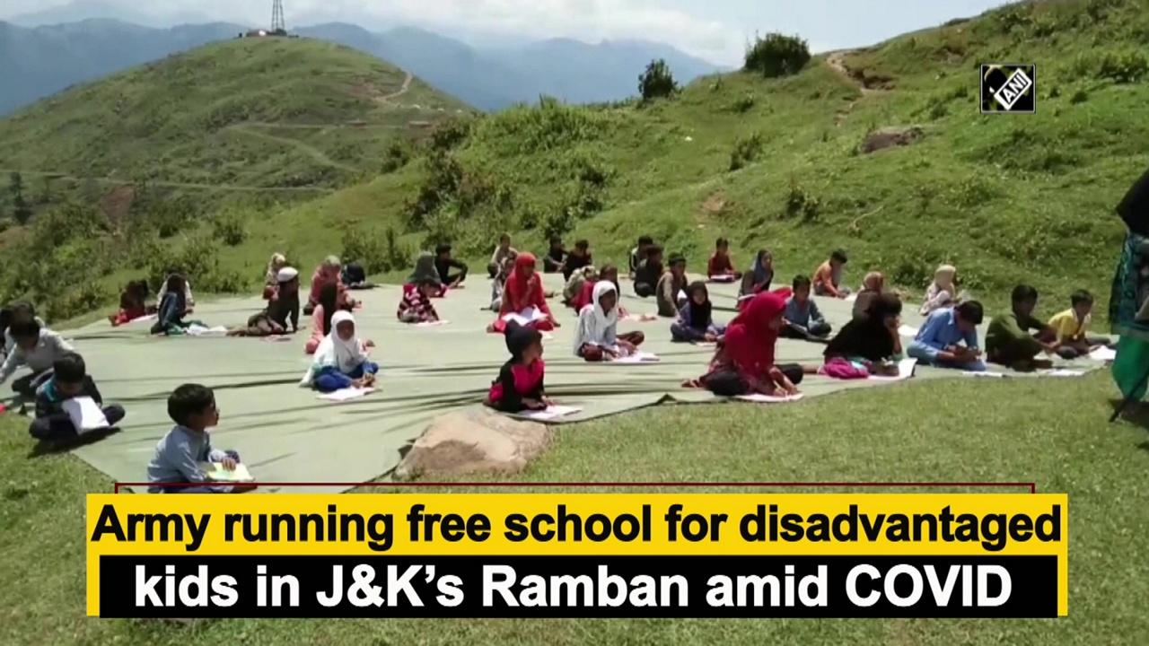 Army running free school for disadvantaged kids in J and K's Ramban amid COVID